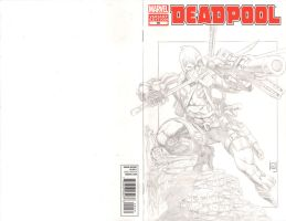 Deadpool cover commish on Deadpool #50 for Ben by jeffreyedwards