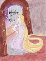 Rapunzel Looking at the Lanterns by aussieclown