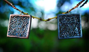 Hell and heaven pendants by OlgaC
