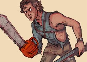 Ash Williams- Our favorite chainsaw man by frizz-bee