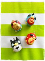 Superhero Charms by cheese-cake-panda