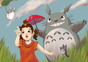 Adora + Totoro by Wendy13