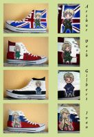 Hetalia Chucks by Larachiel