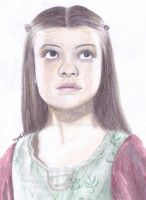Lucy Pevensie Pencil Drawing by Narniakid