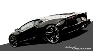 Lamborghini Aventador Vector by LostPr0ph3t