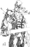 Deadpool 2013 Pencils by hanzozuken