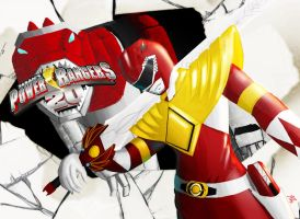 20th Anniversary of Mighty Morphin Power Rangers by the-newKid