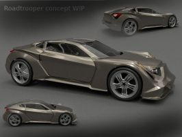 Concept car roadtrooper by koleos33
