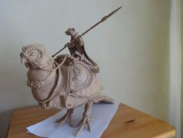 Clode and Rukh. Sculpture. by FortunataFox