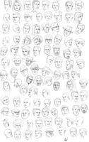 the 300th head sketches by M053AB