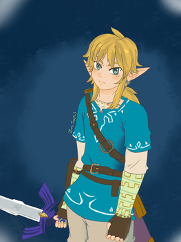 Link Breath of the wild  Fanart by Jim-Jam-Universe