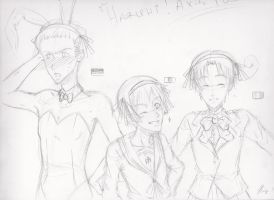 Haruhi!Axis Powers by XWorld-DOMInationX