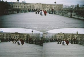 Pont des arts - triptych by lucky-april