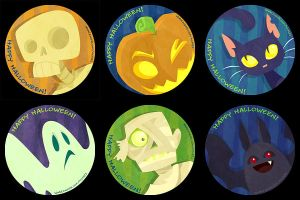 Halloween Buttons by mct421