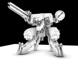 Metal Gear Rex WIP by Puckducker