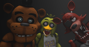 Five Nights at Freddys - The Animatronics by KINGofSPAR7AA