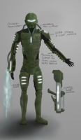 Futuristic Soldier - Design by Yveo