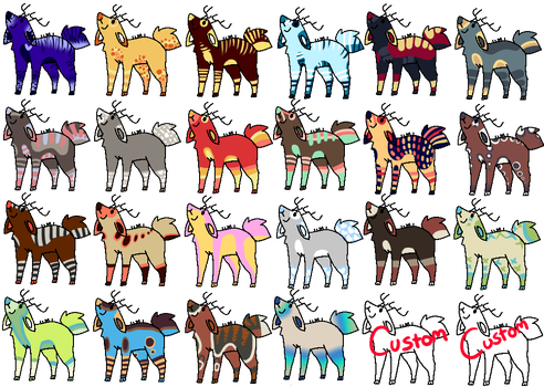 24  Deer adopts ..::OPEN::.. ..::10-50  points::.. by love-the-adopts