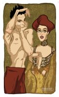 Tribute to Egon Schiele and Gustav Klimt by LaTaupinette