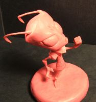 Invader Zim Sculpture by Meadowknight