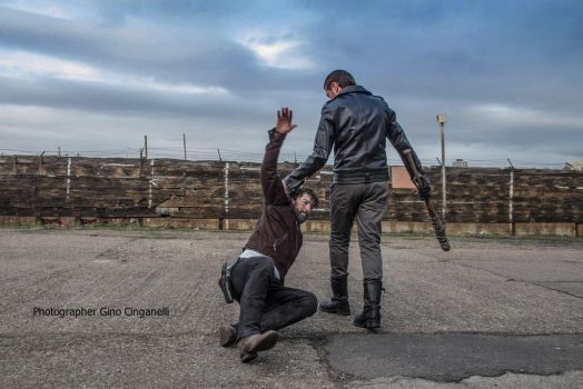 Rick Grimes and Negan by Fabionei