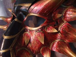 Fire Dragon Mask Close Up by Jedi-With-Wings