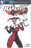 SKETCH COVER Harley Quinn classic by jasinmartin