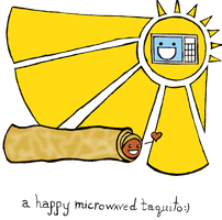 Happy Microwaved Taquito by DeadFishGraphics
