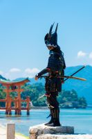 Samurai at Miyajima by dracogar