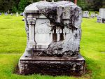 Headstone in disrepair 2 by crimsonravenwarrior