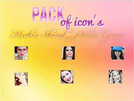 +Pack Icon's Martina Stoessel And Selena Gomez by StoryOfOurLove