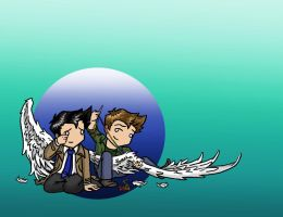 Dean/Cas: Take These Broken Wings and Learn To Fly by blackbirdrose