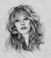 Christine. Pencil Sketch by FrozenPinky