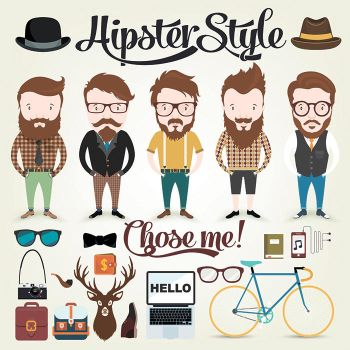 Hipster character illustration by dryopus