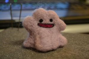 Needle Felted Ditto by feltieflaffy