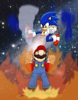 Mario Vs Sonic by 626key