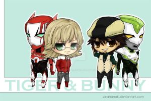 [chibi] Tiger and Bunny by sorahanaki
