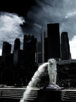 Merlion by blackmariner