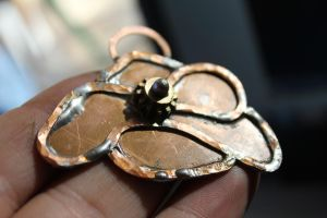 Flower Pendant of Copper by connerchristopher