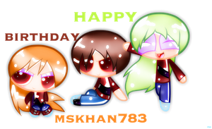 Happy Birthday Mskhan783!!! by PonySparklegirl