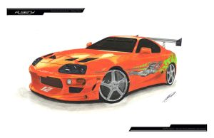 draw toyota supra by albeny