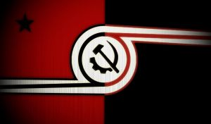American Style Anarcho-Communist Flag by AmericanSFR