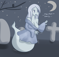 Monster Girl Challenge 16: Ghost by Jcdr