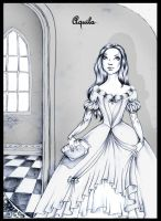 Belle in the Castel ink by Aqvila