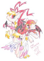 PPG Pony: Winged Reds by Winged-Dragoness