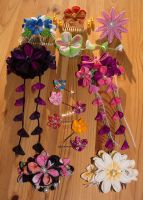 Kanzashi designs by Risachantag
