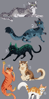 Cat Adoptables (#4 OPEN) by Nightrizer
