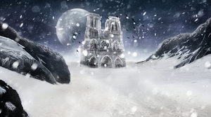 Winter cathedral Notre Dame by DizzePL