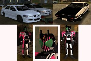 kamen rider decade on GTA by redcolour