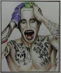 Jared Leto as The Joker from Suicide Squad by chloemeehan1